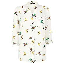 Buy Oasis Parrot Print Shirt, White Online at johnlewis.com