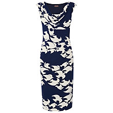 Buy Phase Eight Kimono Bird Dress, Navy/Cream Online at johnlewis.com