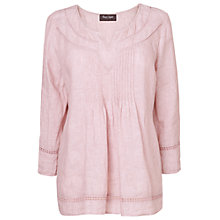 Buy Phase Eight Pip Linen Blouse, Pale Pink Online at johnlewis.com