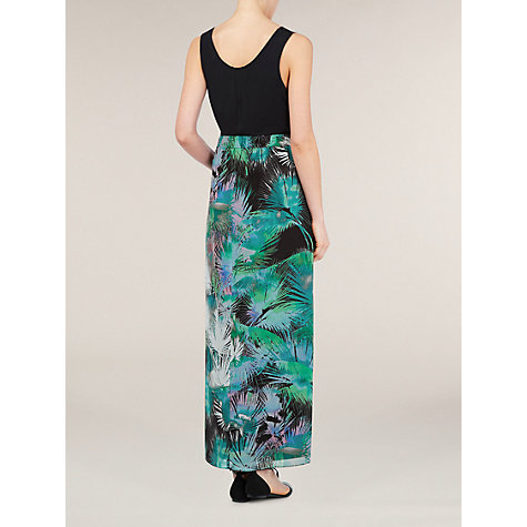 Buy Kaliko Palm Print Maxi Skirt, Multi Green Online at johnlewis.com