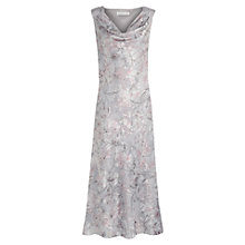Buy Jacques Vert Floral Burnout Dress, Multi Grey Online at johnlewis.com