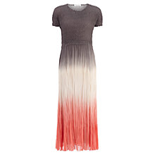 Buy Windsmoor Ombre Crinkle Dress, Espresso Online at johnlewis.com
