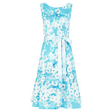 Buy Kaliko Marina Floral Printed Prom Dress, Blue Online at johnlewis.com