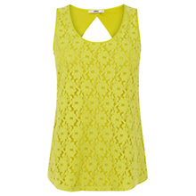 Buy Oasis Lace Longline Vest Top, Pale Green Online at johnlewis.com