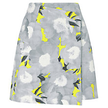 Buy Whistles Mystic Floral Wrap Skirt, Grey Online at johnlewis.com