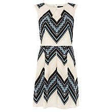Buy Warehouse Tribal Zig Zag Cotton Dress, Multi Online at johnlewis.com