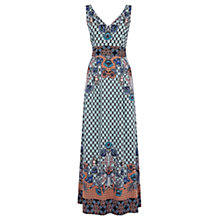 Buy Warehouse Border Floral Maxi Dress, Multi Online at johnlewis.com