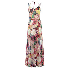 Buy Warehouse Rose Printed Maxi Dress, Multi Online at johnlewis.com