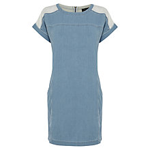 Buy Warehouse Denim Cocoon Dress, Light Wash Denim Online at johnlewis.com