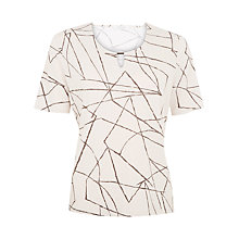 Buy Windsmoor Linea Print Top, Neutral Online at johnlewis.com