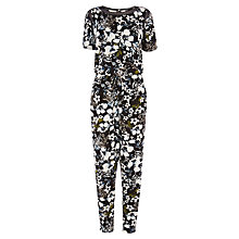 Buy Warehouse Tropical Floral Jumpsuit, Multi Online at johnlewis.com