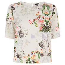 Buy Warehouse Printed Pique Top, Multi Online at johnlewis.com