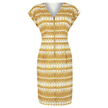 Buy Kaliko Diamond Print Zip Dress, Yellow Online at johnlewis.com