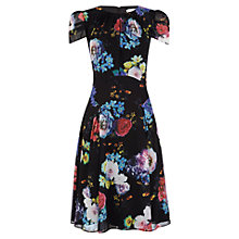 Buy Kaliko Frida Yoke Detail Dress, Black Online at johnlewis.com