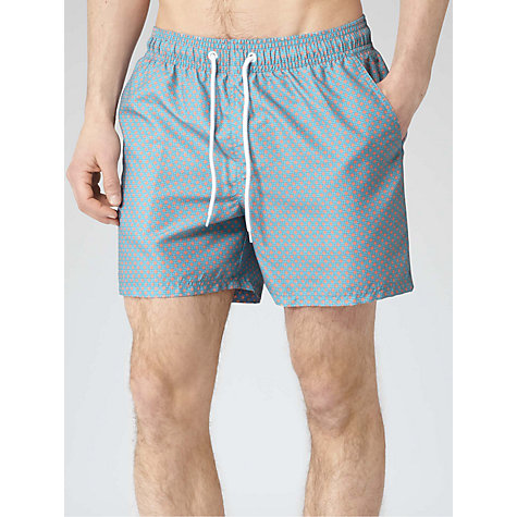 Buy Reiss Otto Chain Print Swim Shorts, Light Blue Online at johnlewis.com