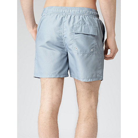 Buy Reiss Zola Striped Swim Shorts, Soft Blue Online at johnlewis.com