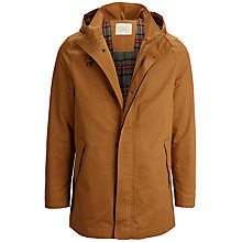Buy Selected Homme Talon Hooded Trench Coat, Dark Orange Online at johnlewis.com