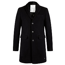 Buy Selected Homme Iconic Overcoat, Navy Online at johnlewis.com