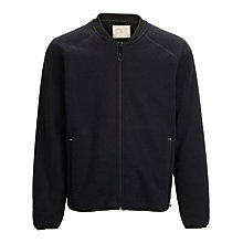 Buy Selected Homme Simple Fleece Bomber Jacket, Blue Graphite Online at johnlewis.com
