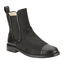 Buy Clarks Orla Kiely Orla Daphne Leather Ankle Boots, Black Online at johnlewis.com