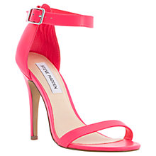 Buy Steve Madden Real Love Stiletto Sandals, Pink Online at johnlewis.com
