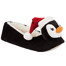 Buy John Lewis Holly Fabric Slippers, Penguin Online at johnlewis.com