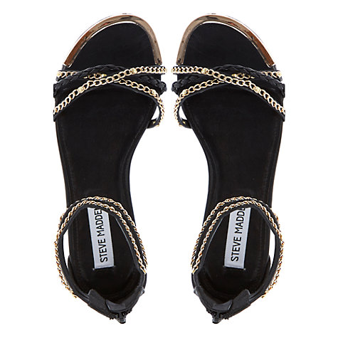 Buy Steve Madden Lawal Chain Detail Flat Sandals Online at johnlewis.com