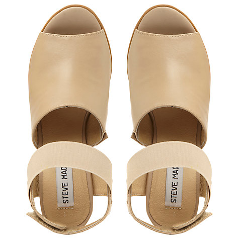 Buy Steve Madden Savage Leather Two Part High Vamp Sandal Online at johnlewis.com