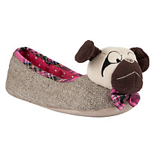 Buy John Lewis Pugzy Novelty Dog Slippers Online at johnlewis.com
