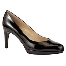 Buy Peter Kaiser Konia Slim Heel Court Shoes, Black Online at johnlewis.com
