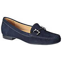 Buy John Lewis Austin Low Heeled Loafers, Navy Online at johnlewis.com