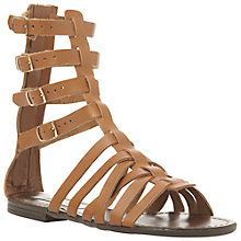 Buy Steve Madden Ceaserr Gladiator Sandals, Cognac Leather Online at johnlewis.com