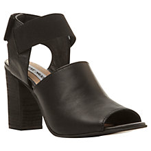 Buy Steve Madden Savage Block Heel Leather Sandals, Black Online at johnlewis.com