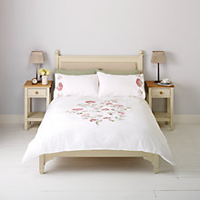 Buy John Lewis Acacia Embroidered Duvet Covers and Pillowcases, White/Pink Online at johnlewis.com
