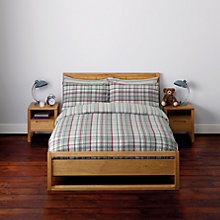 Buy John Lewis Rupert Check Flannelette Bedding Online at johnlewis.com