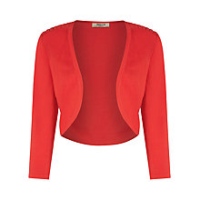 Buy Precis Petite Pleat Shoulder Shrug, Venetian Red Online at johnlewis.com