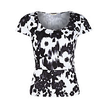Buy Precis Dark Floral Peplum Top, Multi Dark Online at johnlewis.com