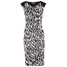 Buy Planet Hazy Animal Print Dress, Black/White Online at johnlewis.com