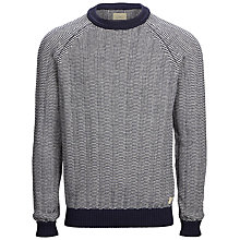 Buy Selected Homme Dream Crew Neck Jumper, Navy / White Online at johnlewis.com