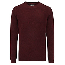Buy Barbour Netherfield Crew Neck Jumper, Ruby Online at johnlewis.com