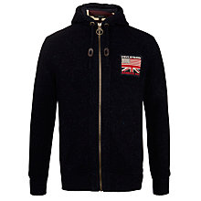 Buy Barbour Hendley Zip Hoodie, Navy Online at johnlewis.com
