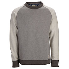 Buy Selected Homme Dubb Crew Neck Sweatshirt, Mid Grey Online at johnlewis.com