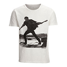 Buy Selected Homme Bruce Springsteen Print T-shirt, Cloud Dancer Online at johnlewis.com