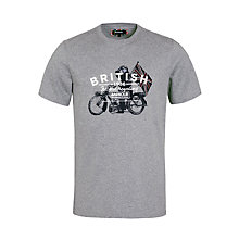 Buy Barbour Morton T-Shirt, Storm Marl Online at johnlewis.com