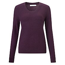 Buy John Lewis Cashmere Blend Cable Scoop Neck Jumper Online at johnlewis.com