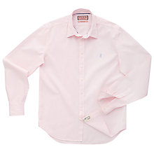 Buy Thomas Pink Drake Plain Long Sleeve Shirt, Pale Pink Online at johnlewis.com
