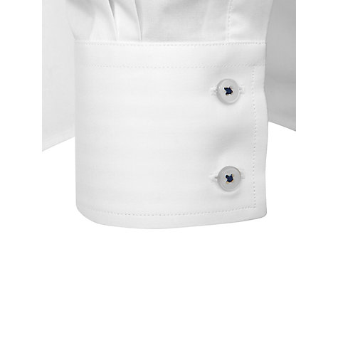 Buy Thomas Pink Rae Plain Long Sleeve Shirt, White/Blue Online at johnlewis.com