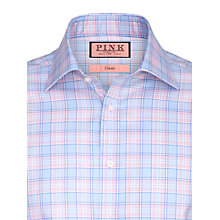 Buy Thomas Pink Luca Check XL Sleeve Shirt, Pink/Blue Online at johnlewis.com