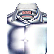 Buy Thomas Pink Lloyd Stripe Long Sleeve Shirt, White/Blue Online at johnlewis.com