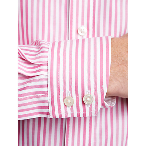 Buy Thomas Pink Vanguard Stripe Long Sleeve Shirt, Pink/White Online at johnlewis.com